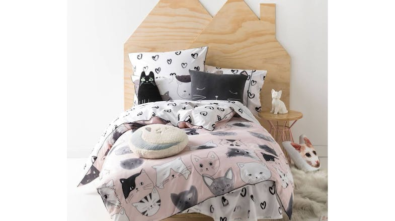 Linen House Kitty Cat Quilt Cover Set Domayne
