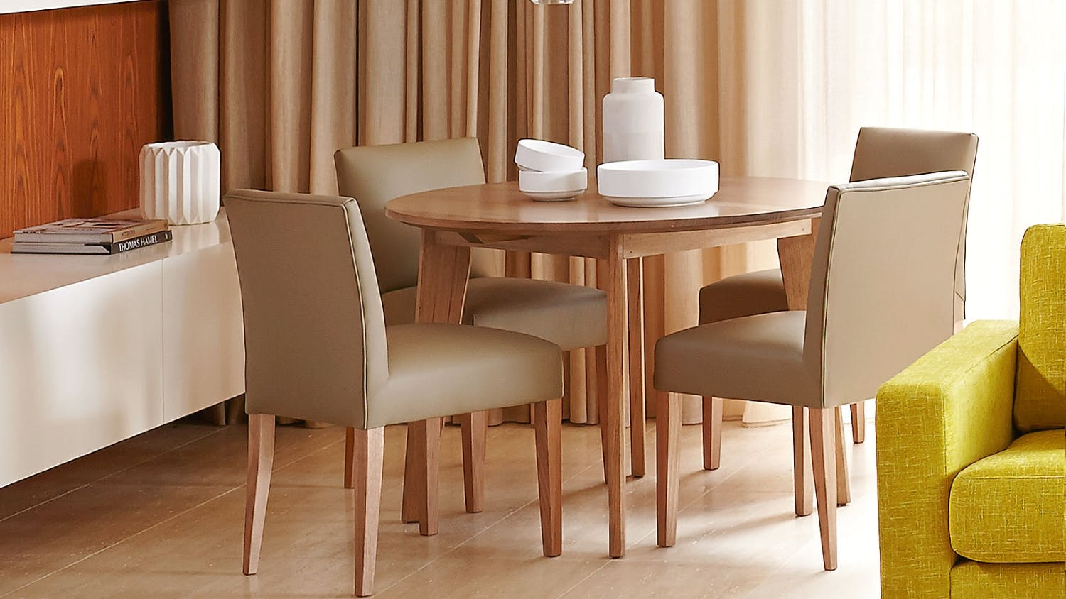 Elvie Round Dining Table Domayne
