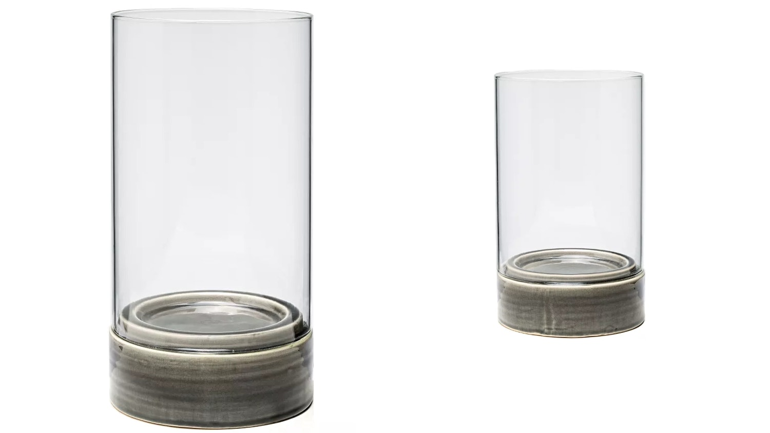 Isla Hurricane Candle Holder - Grey