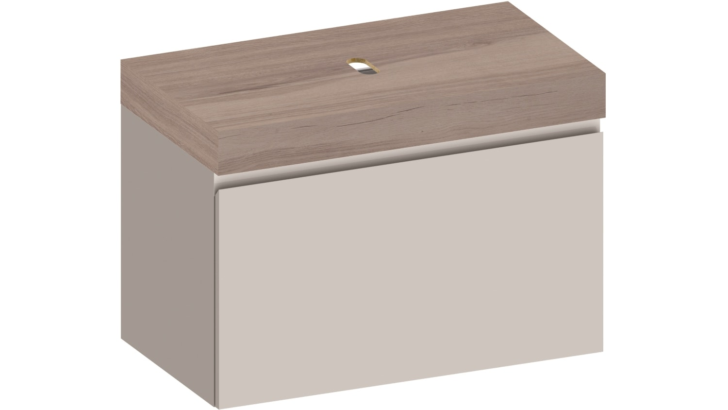 Kokoon Elements 900 Wall Mounted Vanity With HPL Rovere Wafer Top - White