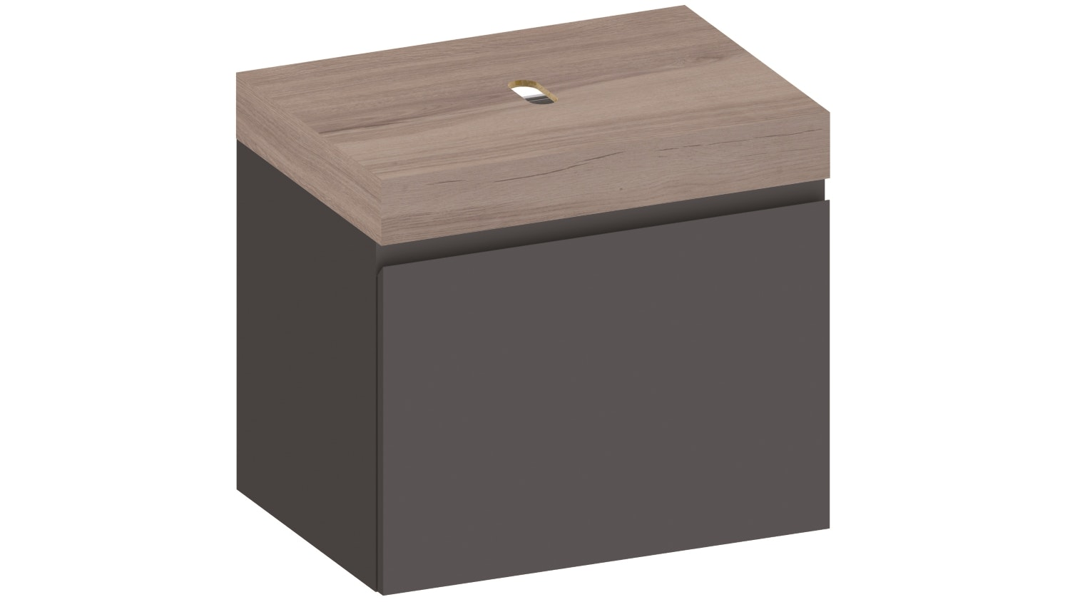 Kokoon Elements 700 Wall Mounted Vanity With HPL Rovere Wafer Top - Graphite