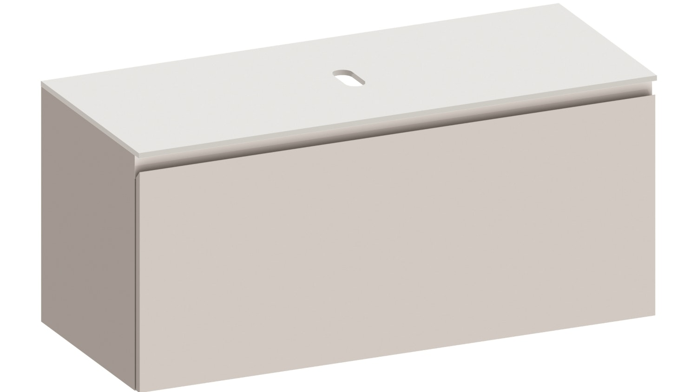 Kokoon Quantum 1200 Wall Hung Vanity with Mineralmarmo Top - White