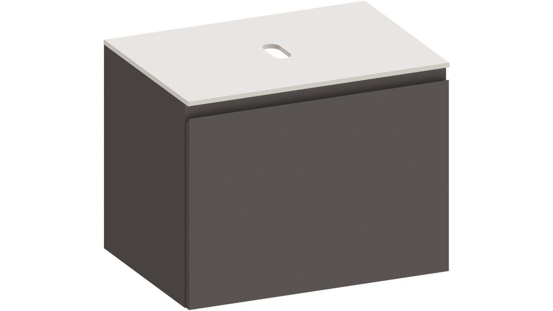 Kokoon Quantum  700 Wall Hung Vanity with Mineralmarmo Top - Graphite