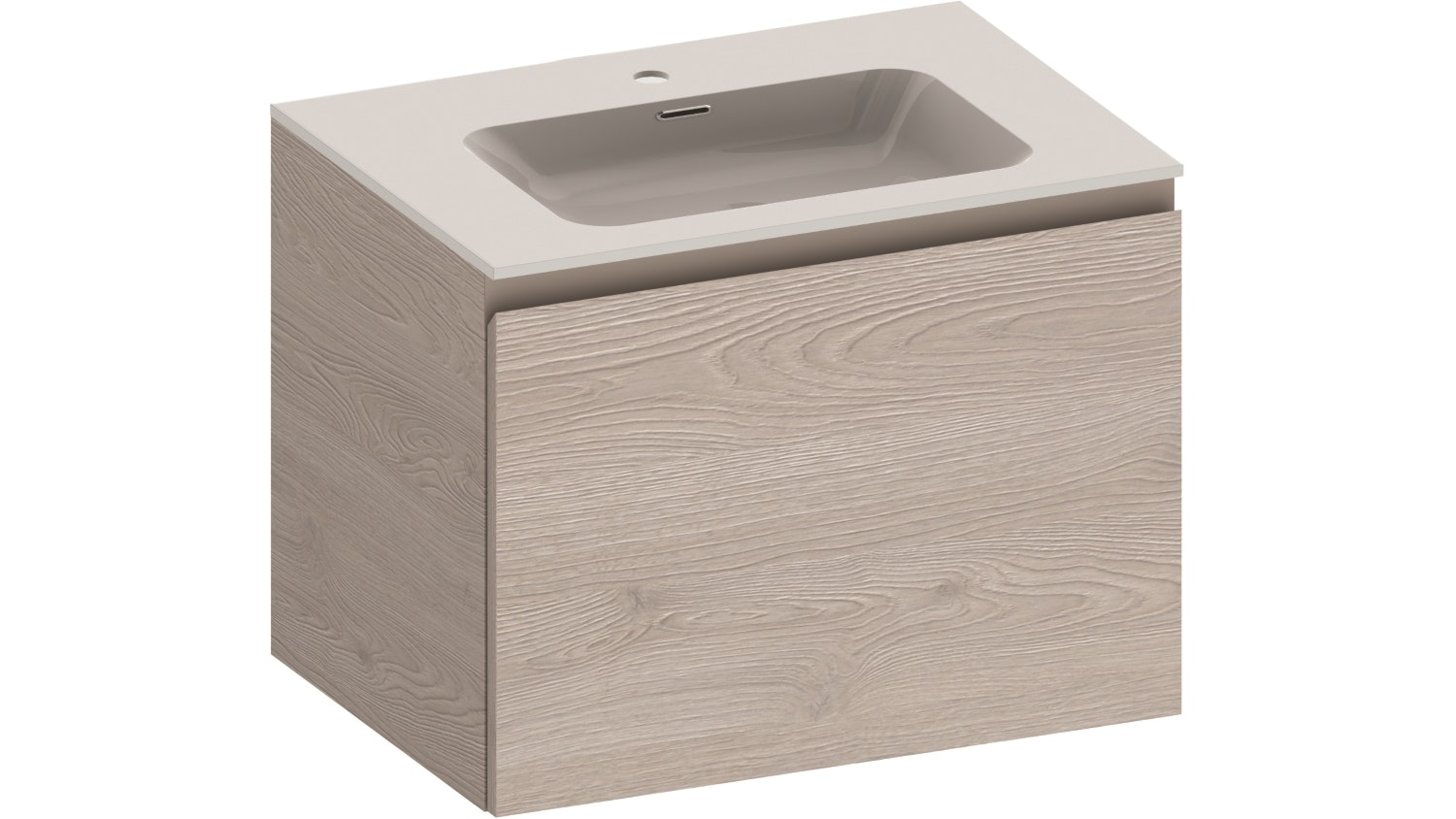 Kokoon Quantum 700 Wall Hung Vanity with Mineralmarmo Top & Basin - Grigio Oak