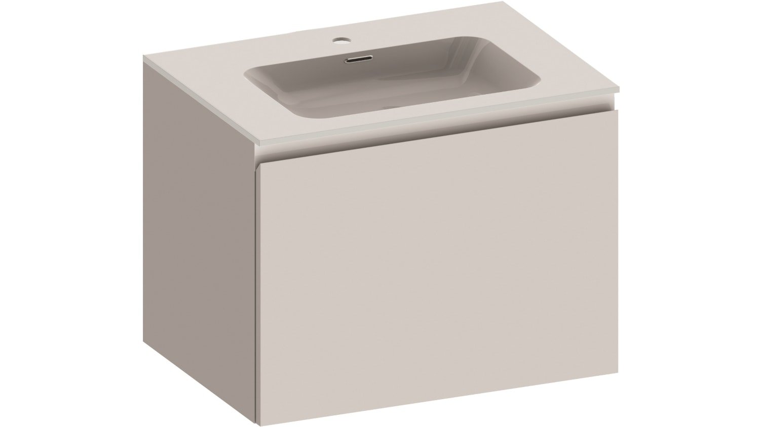 Kokoon Quantum 700 Wall Hung Vanity with Mineralmarmo Top & Basin - White