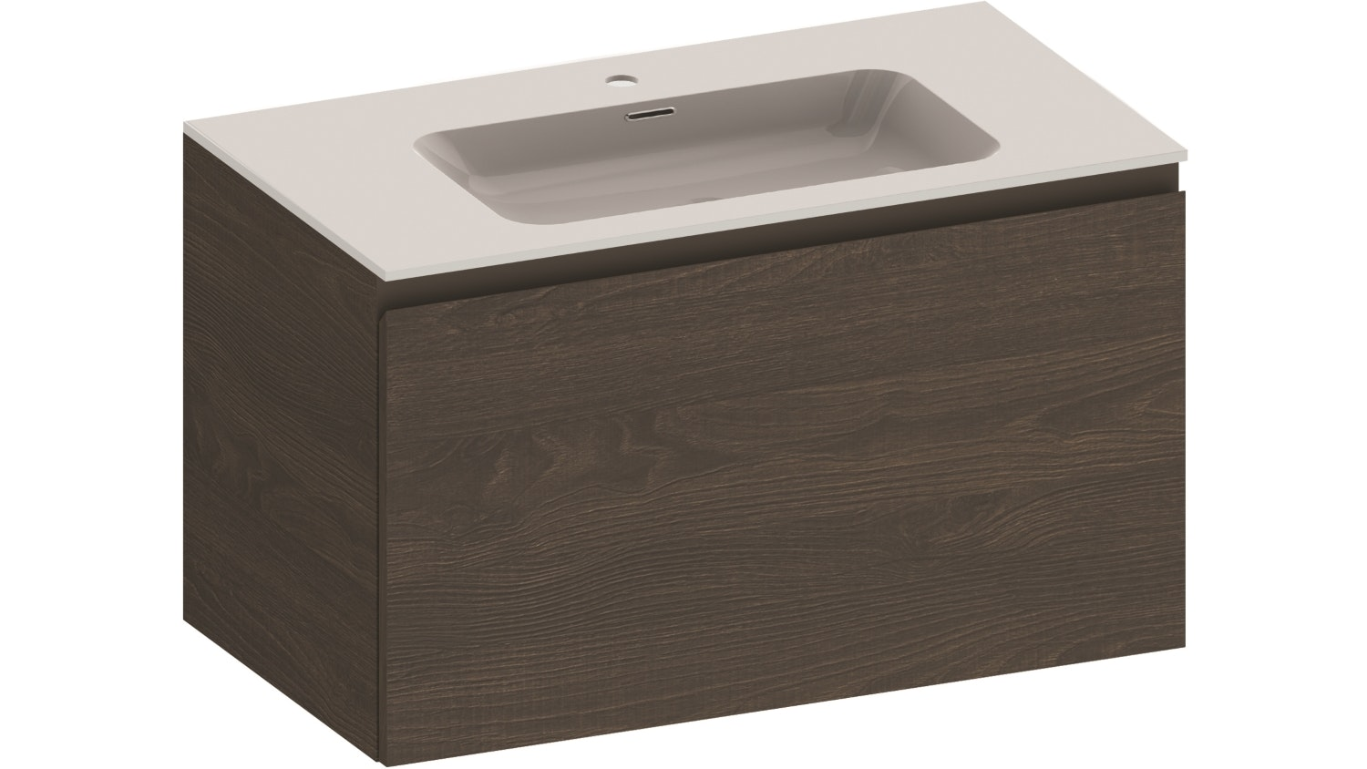 Kokoon Quantum 900 Wall Hung Vanity with Mineralmarmo Top & Basin - Sherwood Scuro