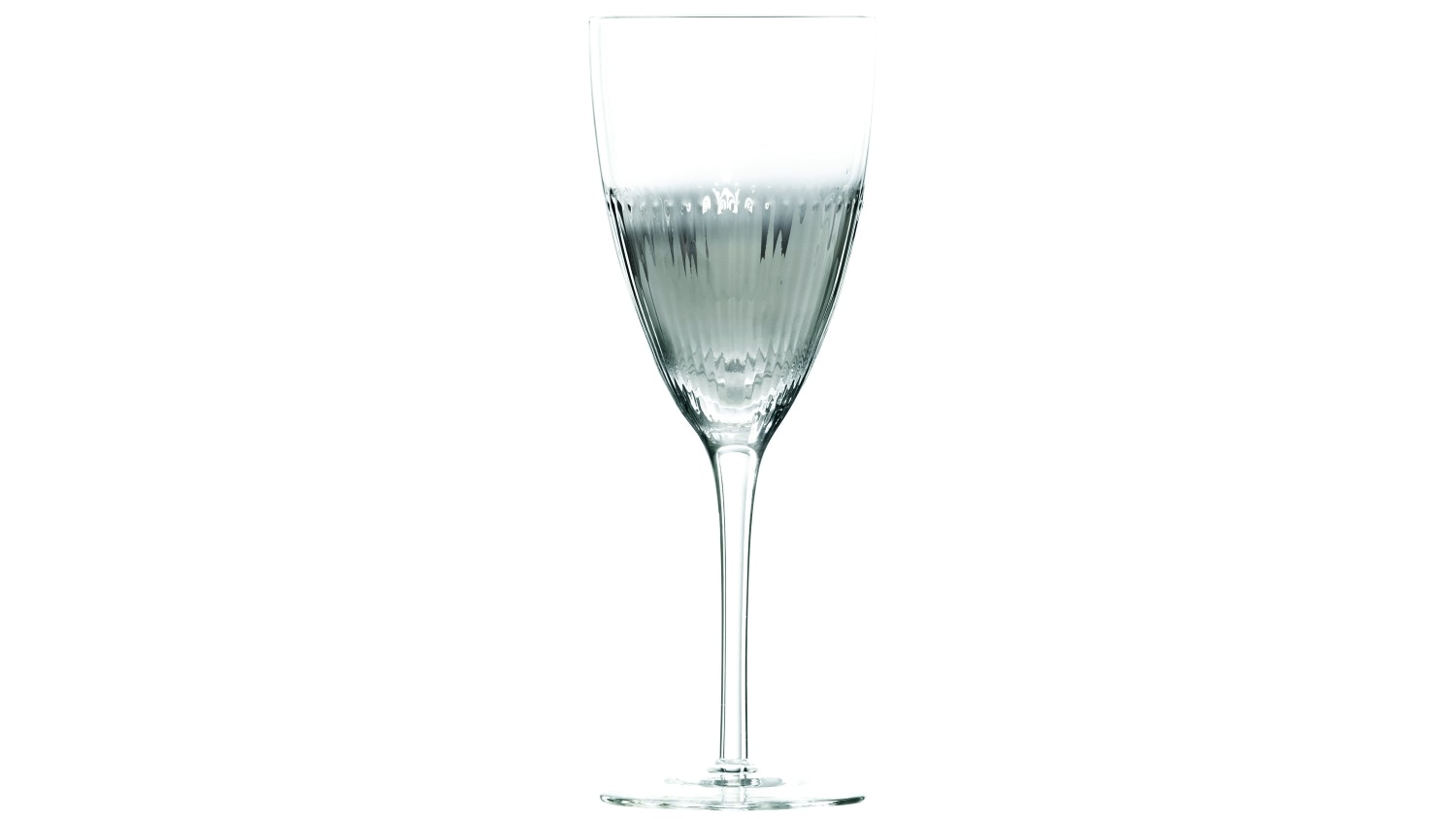 Chin Chin Ribbed Wine Glass - Silver