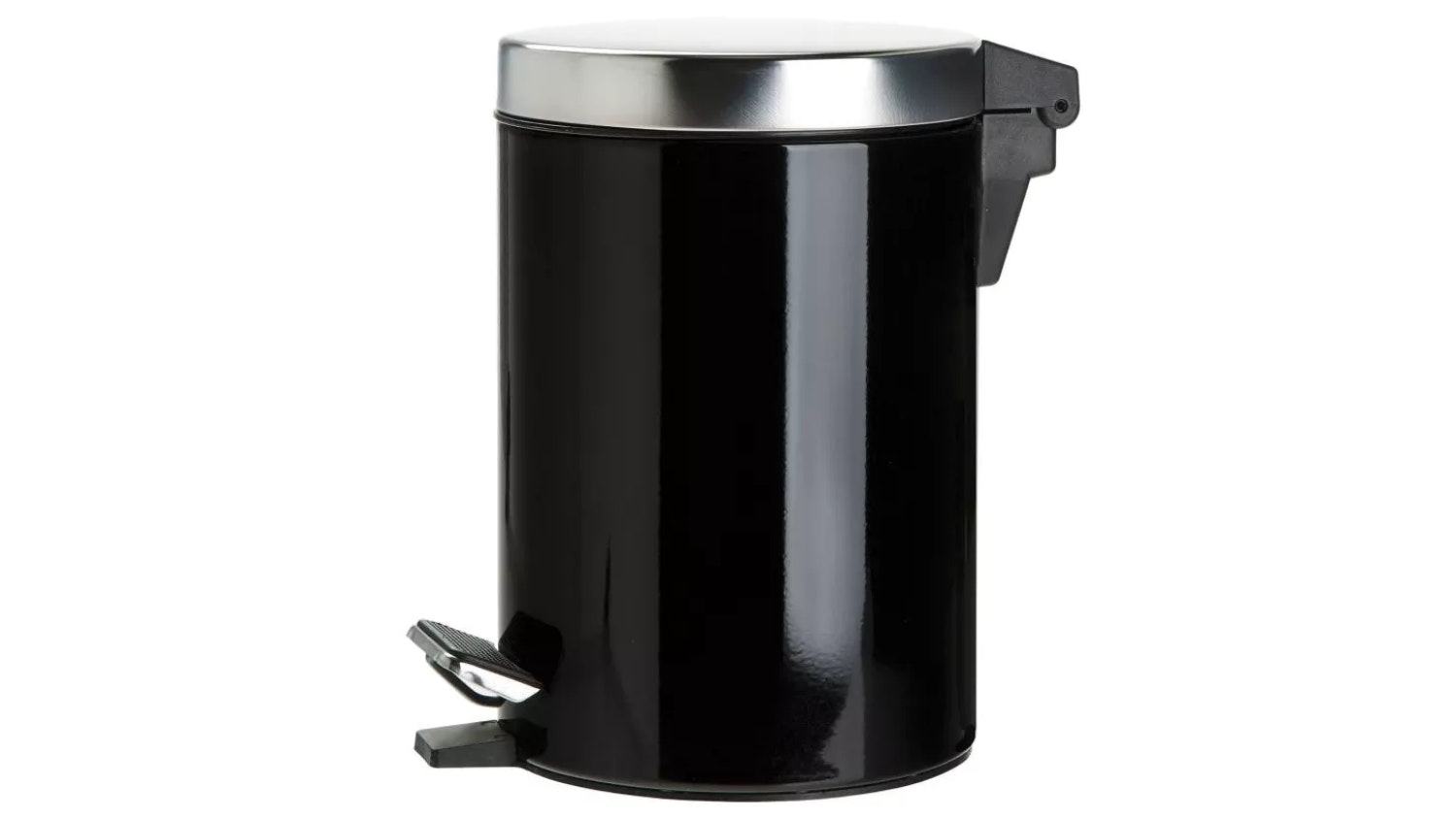 Linen House Coated Stainless Steel Waste Bin - Black