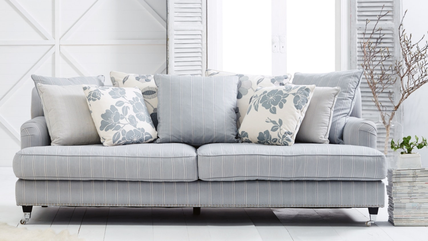 Fabric Lounges Couch Sofa Modular Lounges Couches Domayne ~ Types Of Sofa Materials