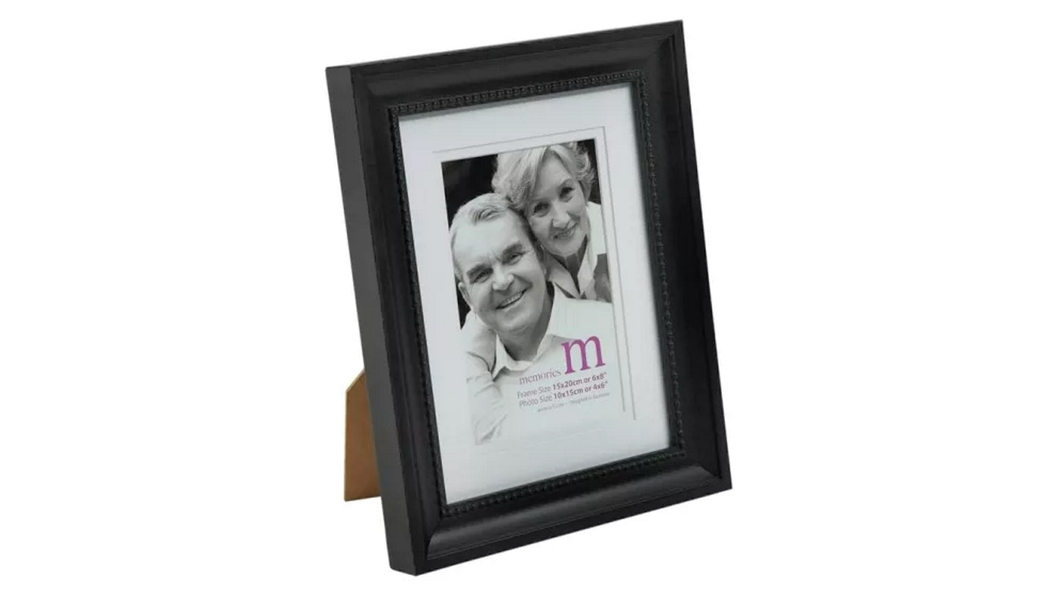 "UR1 Memories 6""x 8"" with 4""x 6"" Opening Photo Frame - Black"