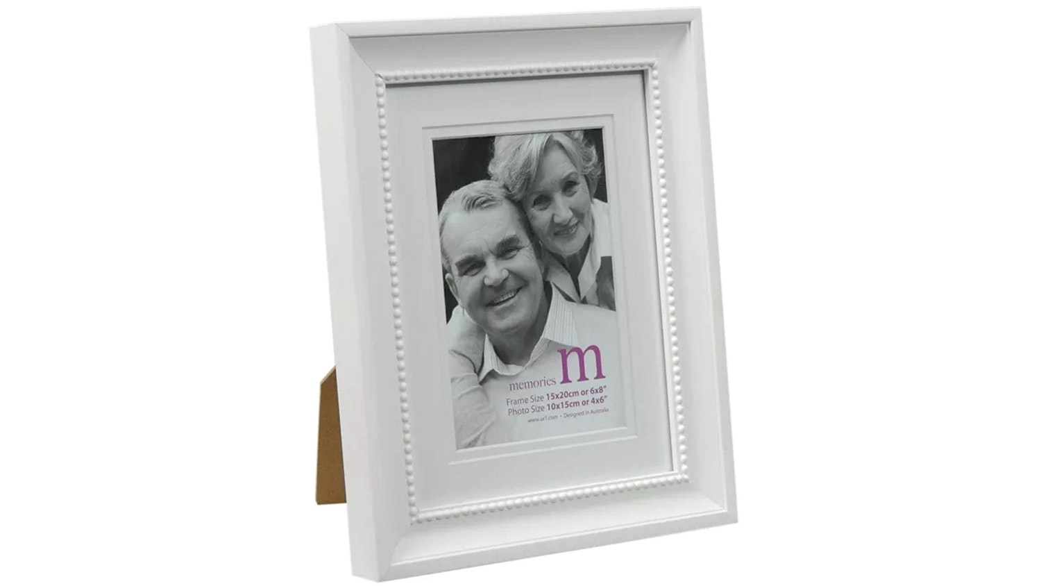 "UR1 Memories 6""x 8"" with 4""x 6"" Opening Photo Frame - White"