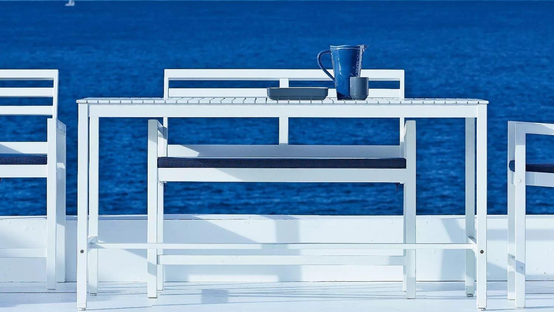 Oakland rectangular outdoor bar table domayne for Furniture quay