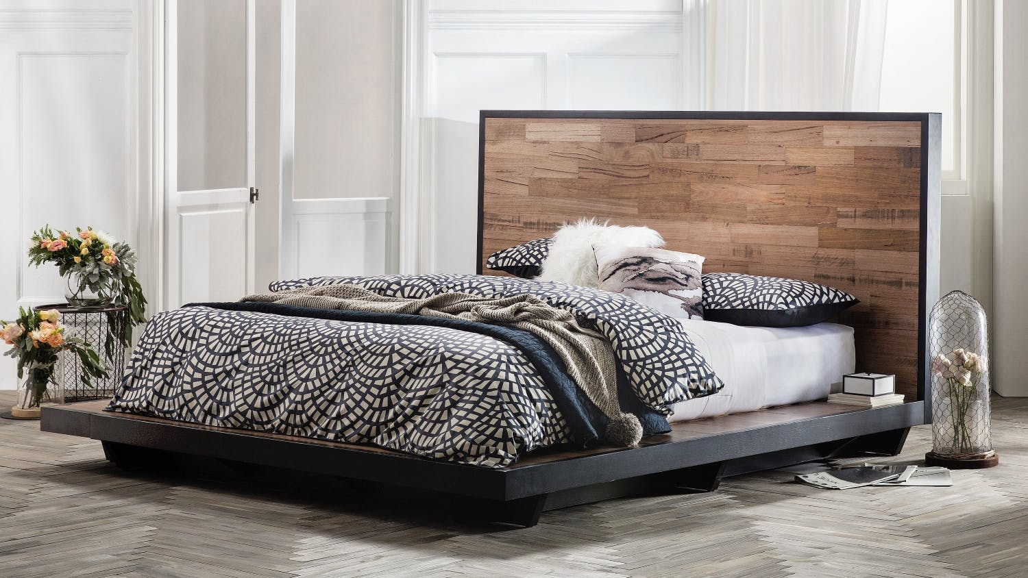 Abode bed frame domayne - Cool queen bed frames ...