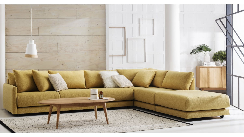 hammar fabric modular sofa domayne. Black Bedroom Furniture Sets. Home Design Ideas