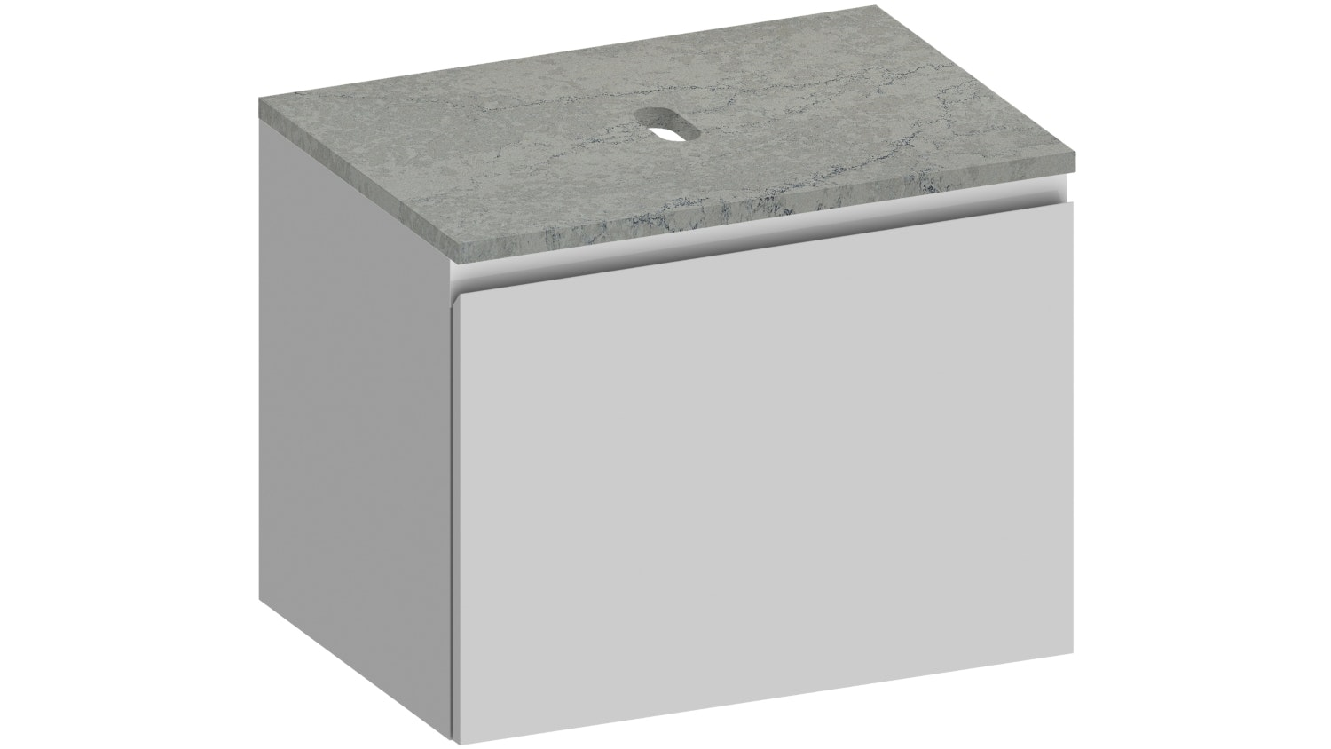 Kokoon Elements Wall Hung Vanity with Fumo Stone Top - Matte White