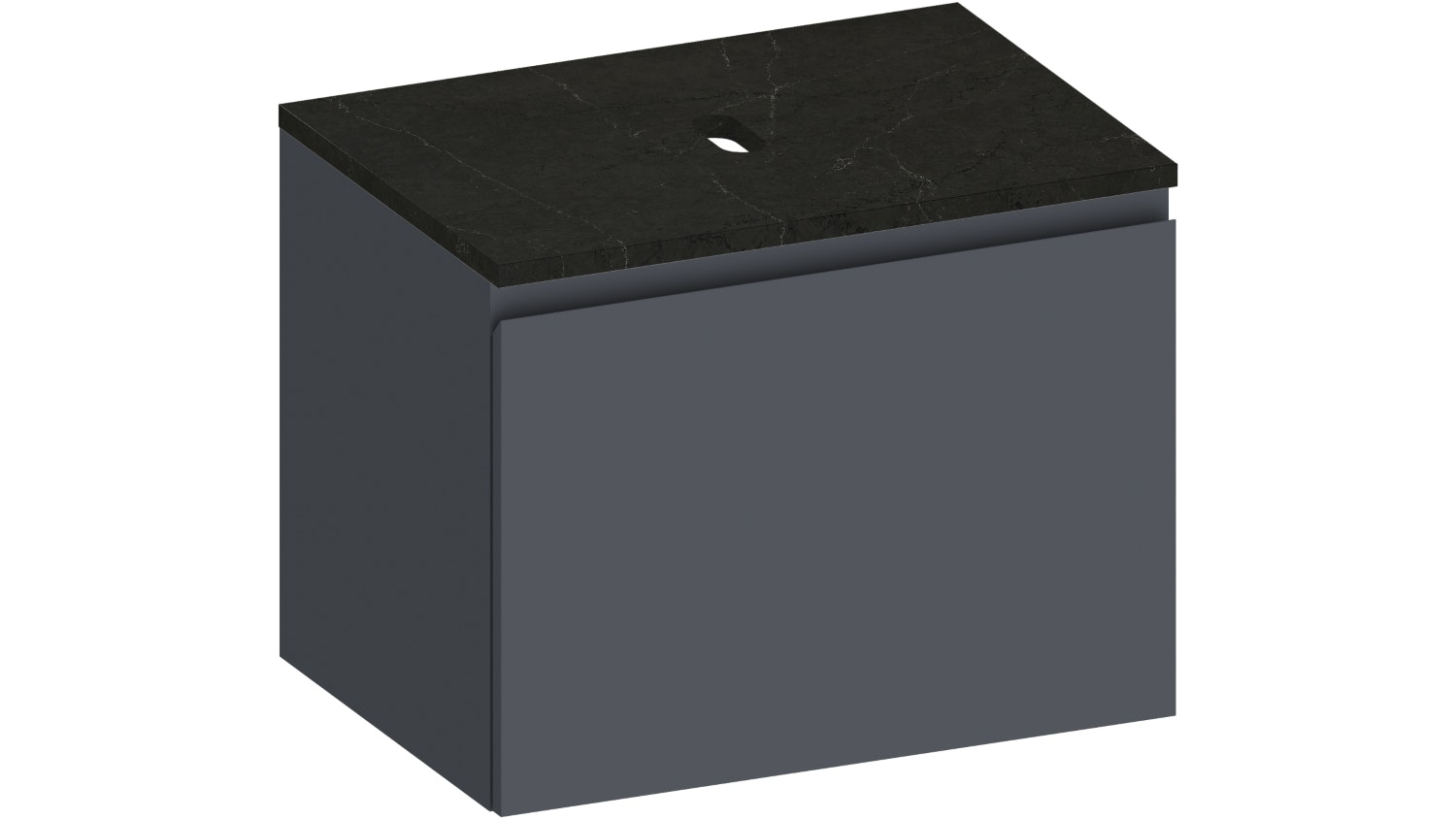 Kokoon Elements Wall Hung Vanity with Tempesta Stone Top - Matte Graphite