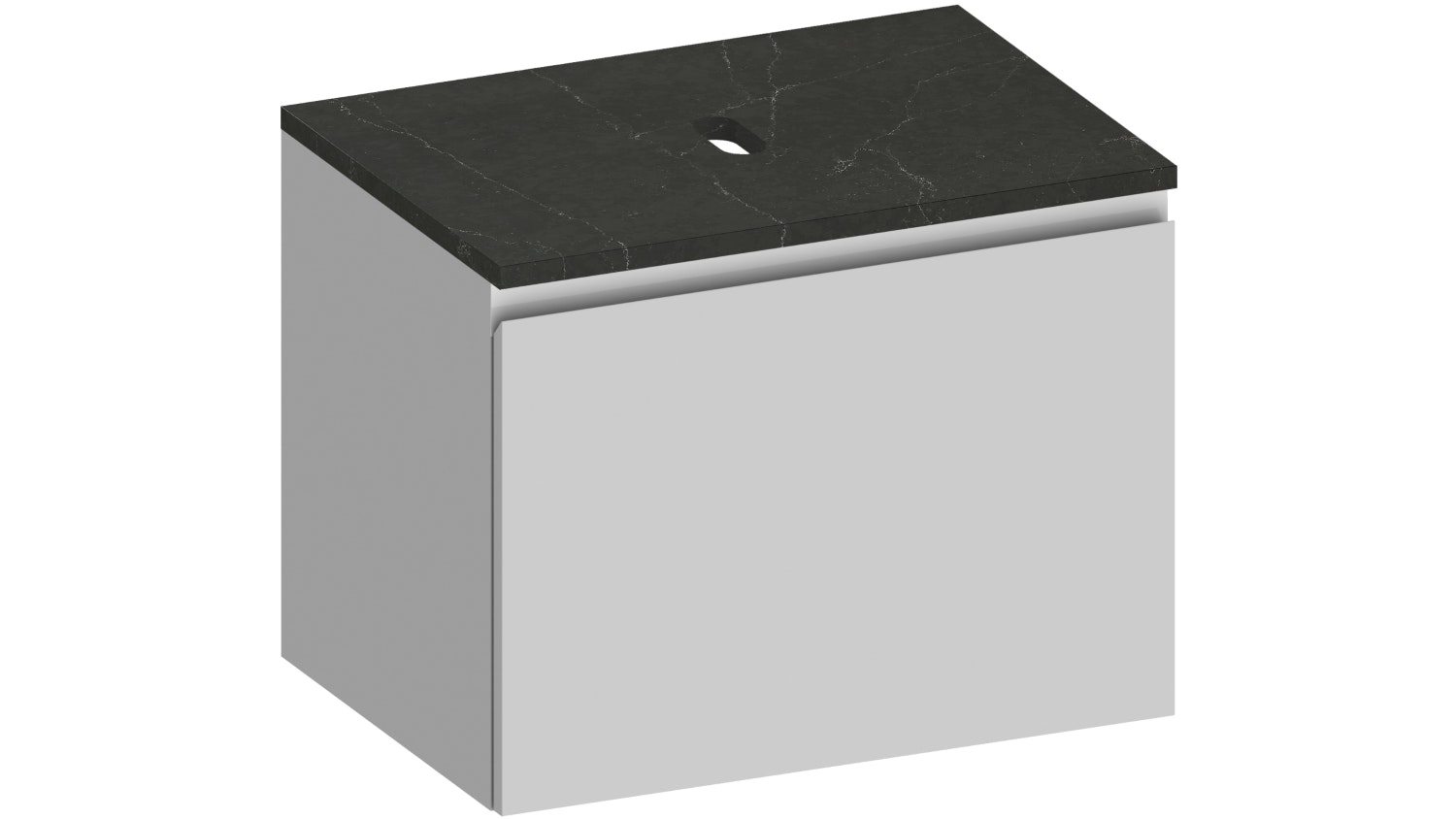 Kokoon Elements Wall Hung Vanity with Tempesta Stone Top - Matte White