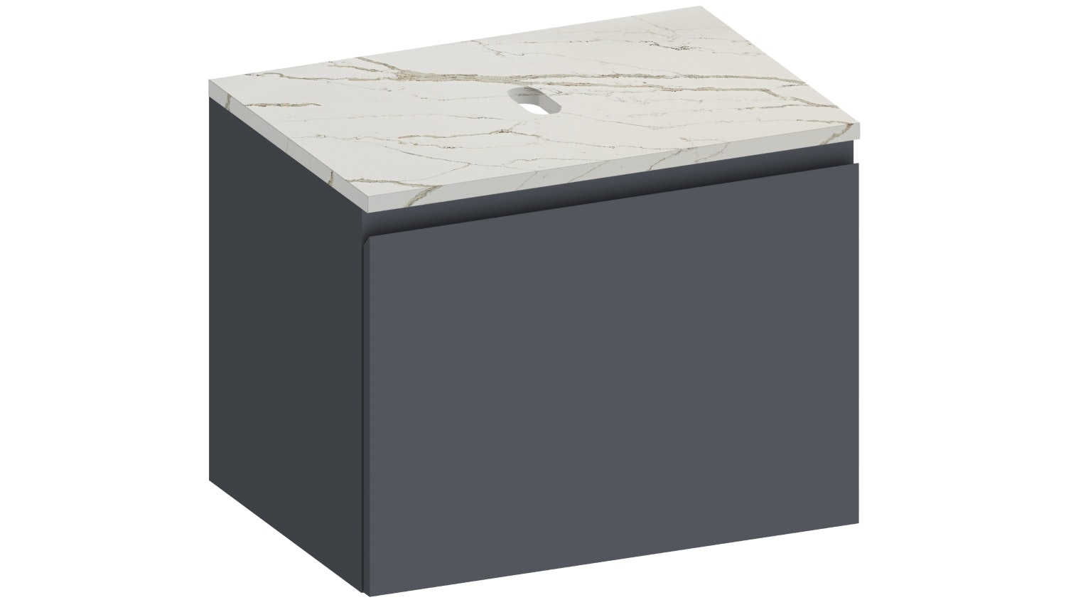 Kokoon Elements Wall Hung Vanity with Vena D'oro Stone Top - Matte Graphite