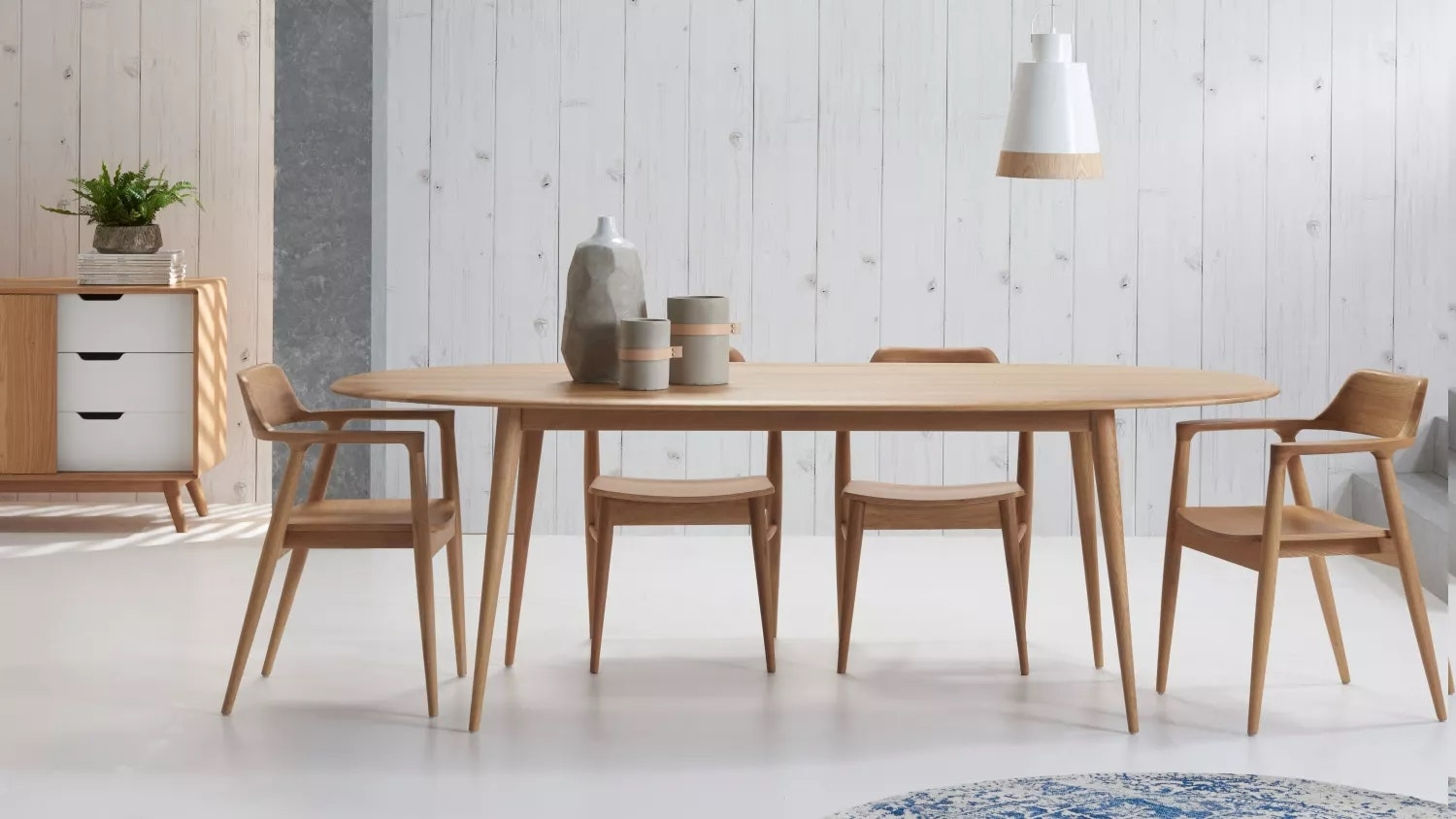 bianca oval dining table