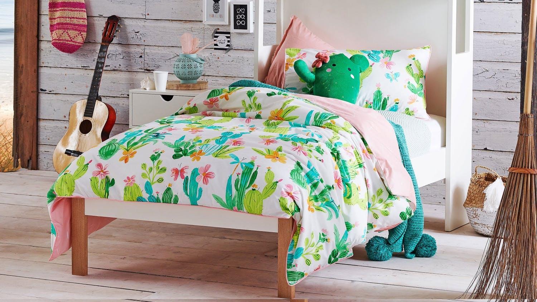 Kas cactus quilt cover set domayne for Soft furnishings online