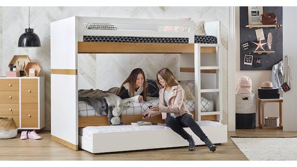 Kid beds kids furniture bunk beds toddler bed domayne - Delightful bedroom decorating design ideas with various ikea white bunk bed frame ...