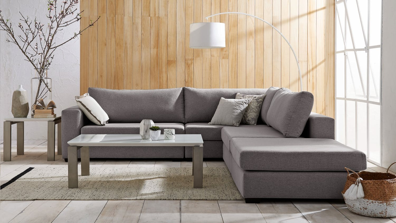 jigsaw 4 piece fabric modular sofa