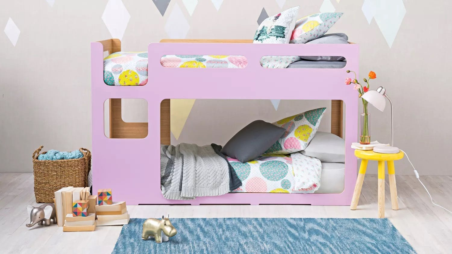 My place bunk bed lilac domayne for Cool beds for tweens