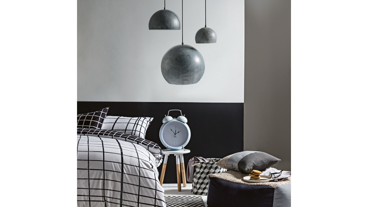 Nordic Dome Small Pendant Light - Grey
