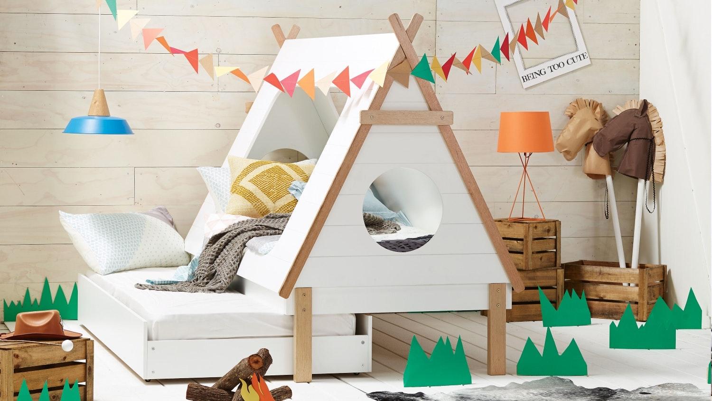 Wonderful Tee Pee Kids Trundle Bed