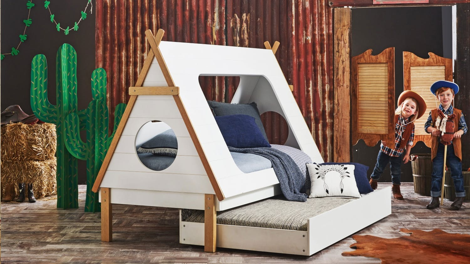 Tee Pee Kids Trundle Bed Domayne