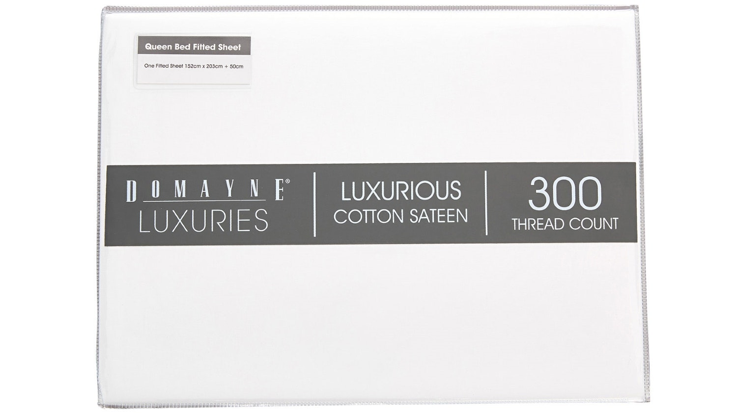 Domayne Luxuries 300TC Fitted Sheet - White