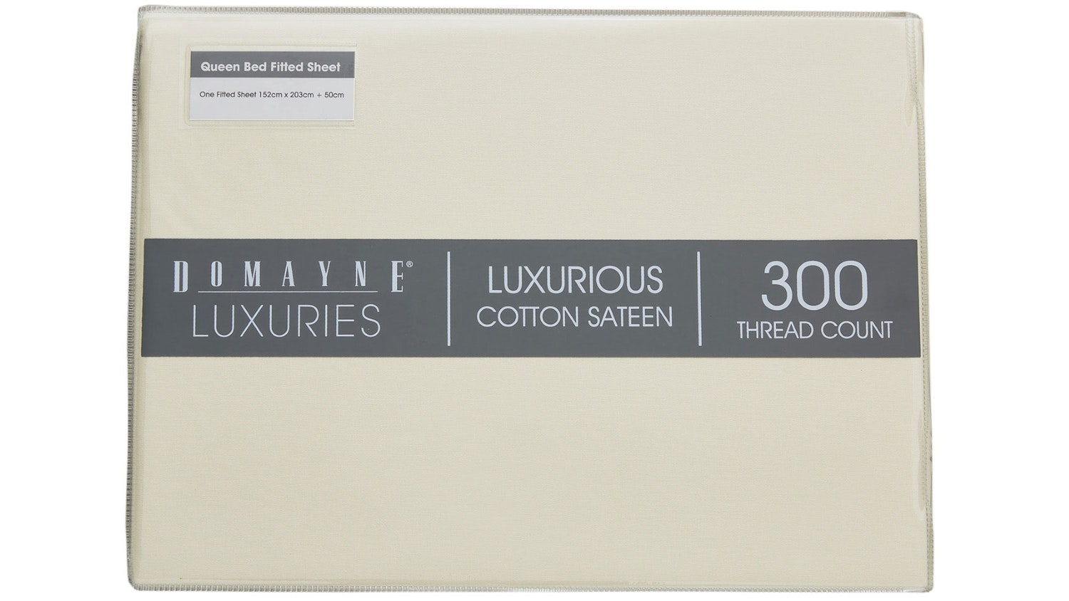 Domayne Luxuries 300TC Fitted Sheet - Linen