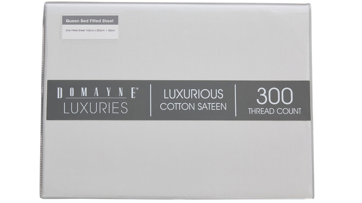 Domayne Luxuries 300TC Fitted Sheet - Silver