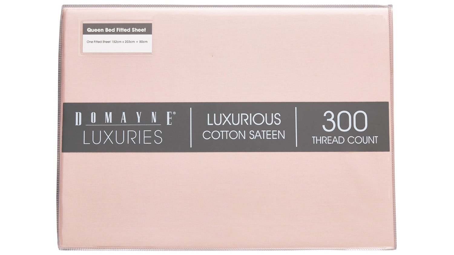 Domayne Luxuries 300TC Fitted Sheet - Blush