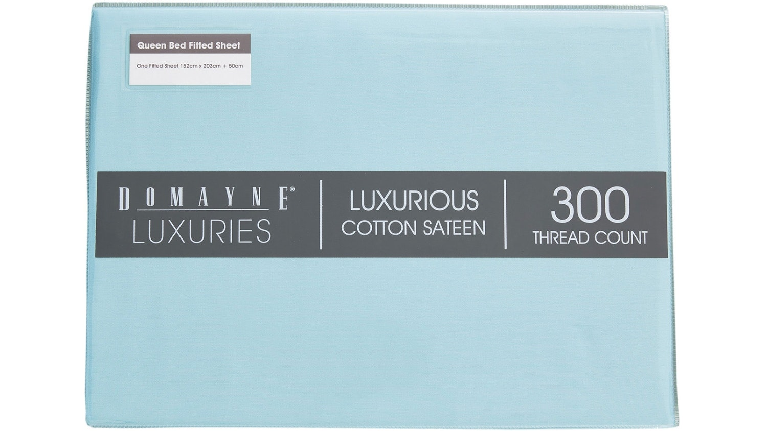 Domayne Luxuries 300TC Fitted Sheet - Blue