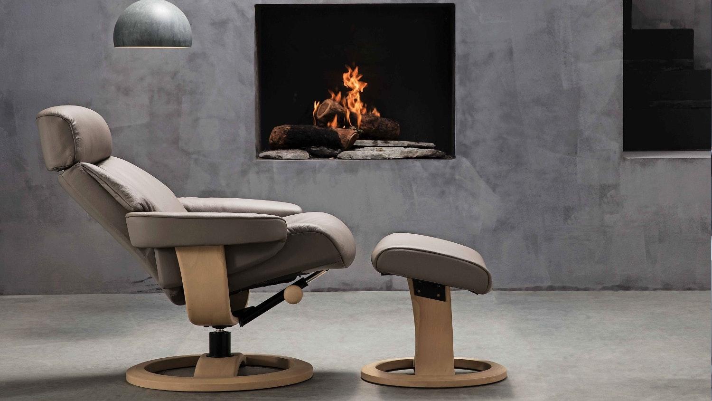 Nordic 84 Leather Reclining Chair U0026 Ottoman