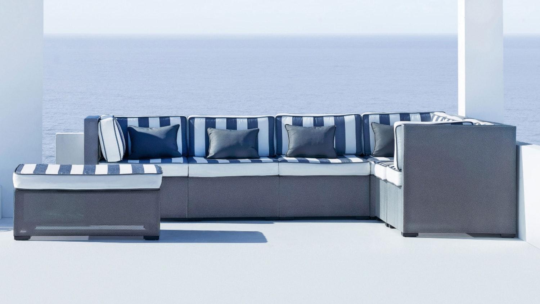Zenga 7 Piece Outdoor Modular Lounge Package Part 71