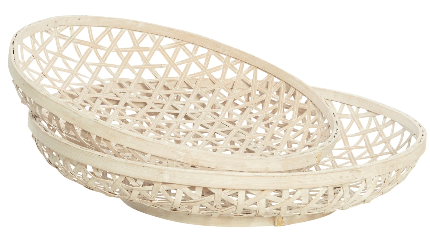 Batesford Set of 2 Bamboo Shallow Tray