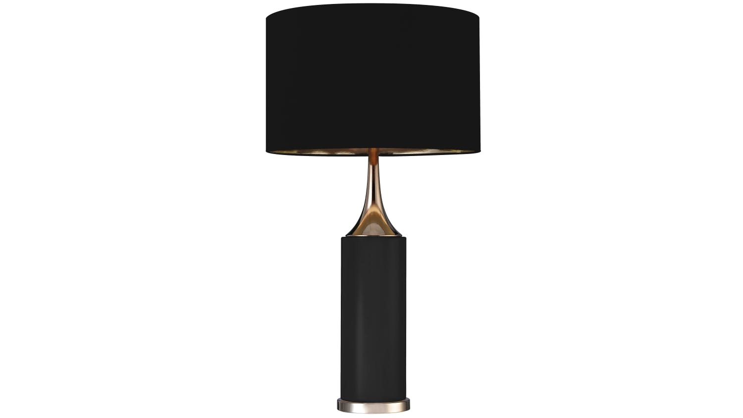 Aria table lamp black domayne aria table lamp black geotapseo Image collections
