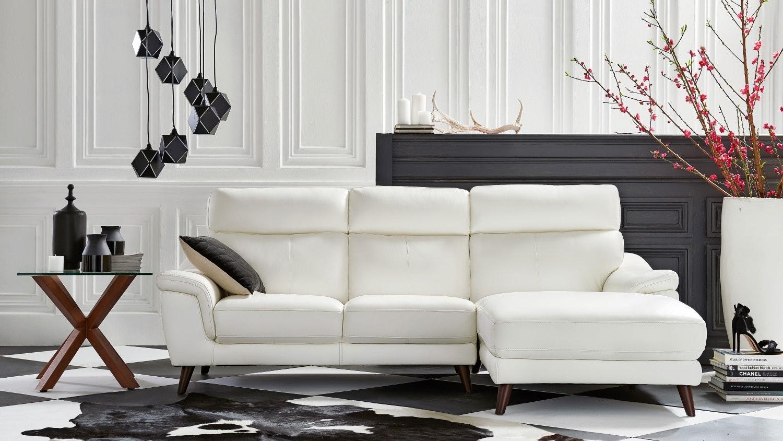 latest living room furniture. Roma 2 Seater Leather Sofa With Chaise Latest Living Room Furniture