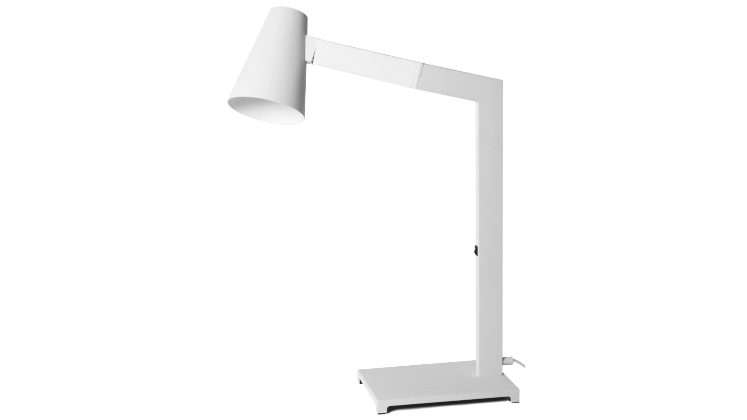 Pole Tilt Study Lamp - White