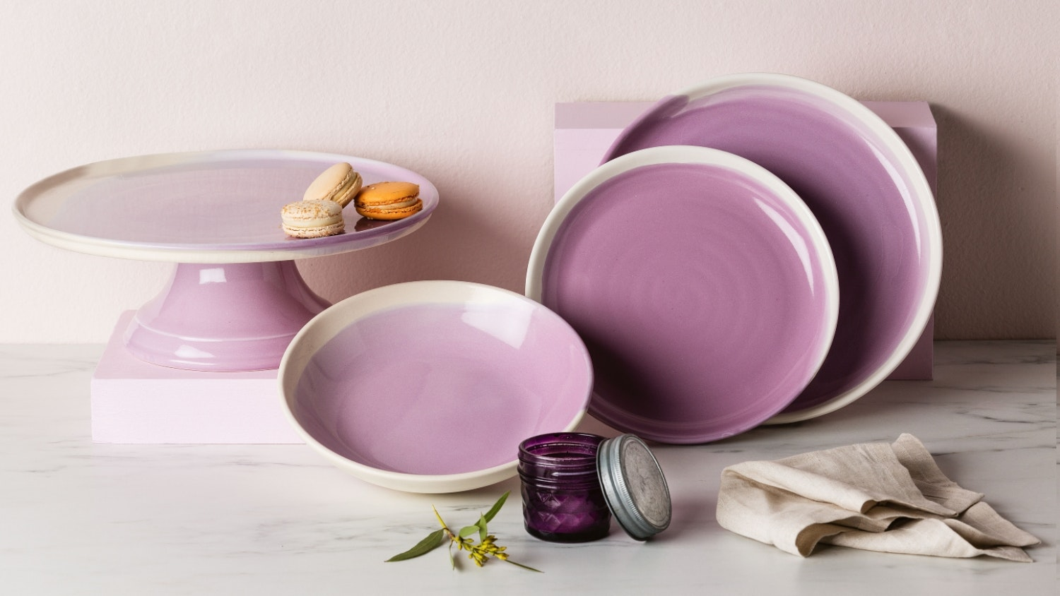 Robert Gordon Swatch Lilac Glaze Side Plate