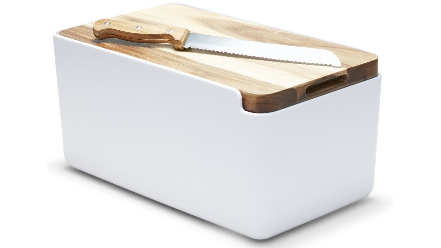 Salt & Pepper Hudson Bread Bin - White