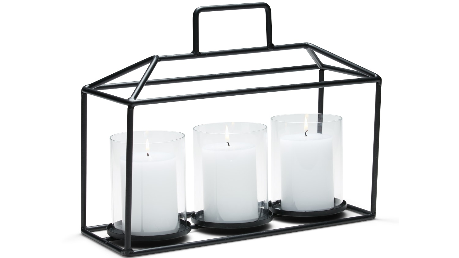 Salt & Pepper Alfresco Large Hurricane Candle Holder