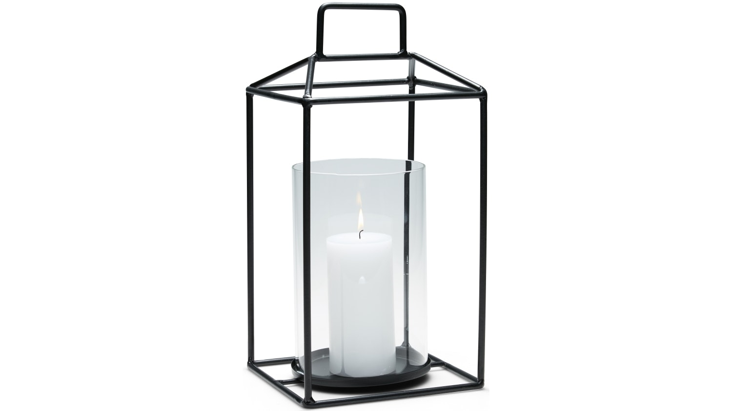 Salt & Pepper Alfresco Small Hurricane Candle Holder