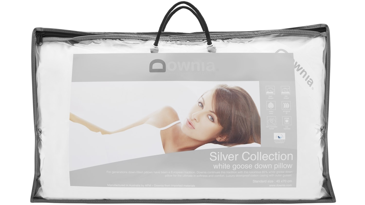 Downia Silver Collection White Goose Down Pillow