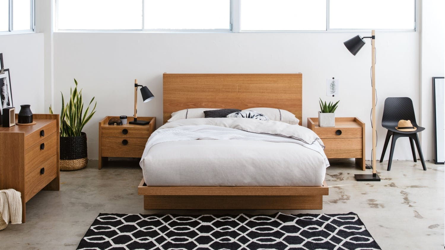 Gallery Bed Frame With Tech Pack Domayne