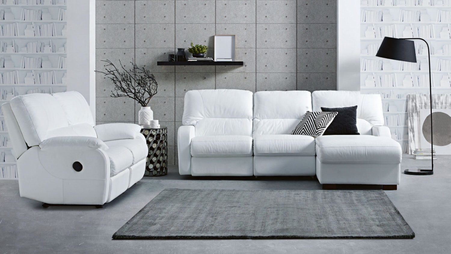 Caprice Luxe Sofa with Twin Electric Reclining Actions