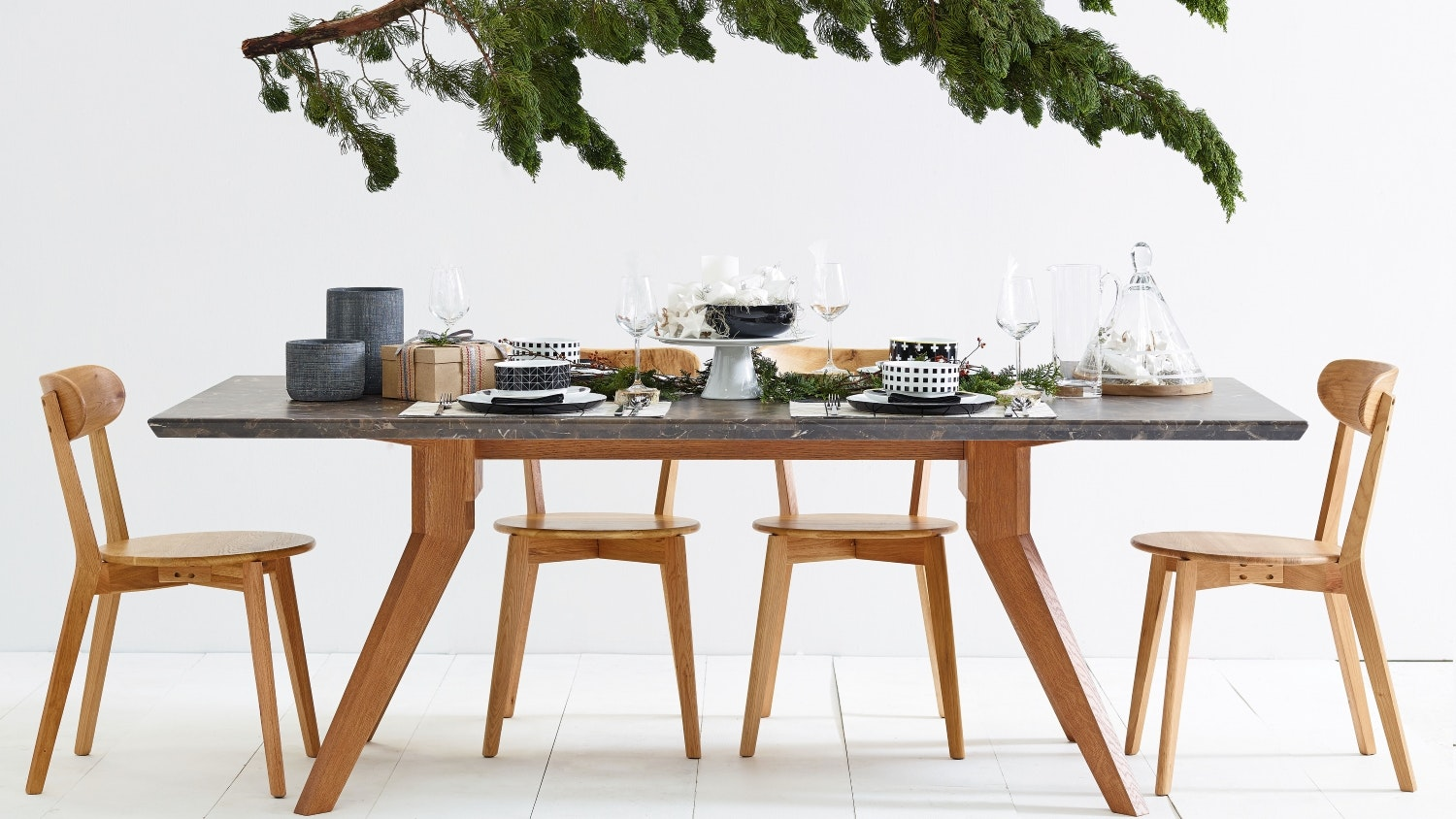 Delta Marble Dining Table