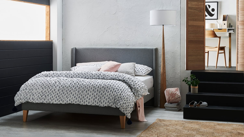 Harlow bed frame domayne for Harlowe bed